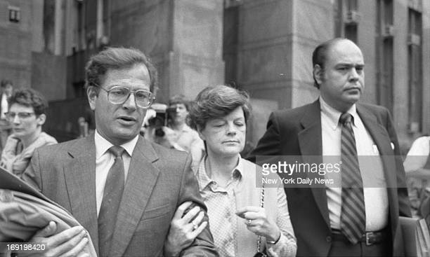 Phyllis Chambers mother of Central Park killer Robert Chambers leaves Criminal Court on arm of attorney