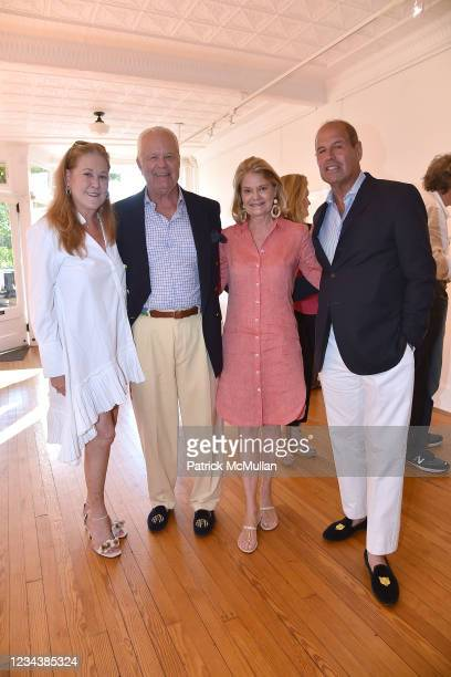 """Phyllis Chase, Averell Fisk, Kirsten Fisk and Philippe Bigar attend the release of Christophe von Hohenberg's new book """"The White Album of The..."""