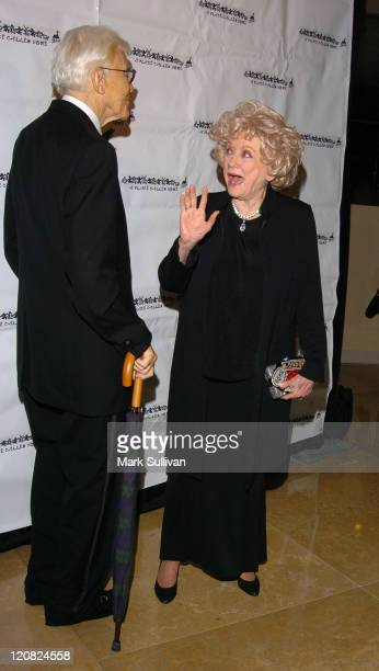Phyllis Diller and guest during A Place Called Home 11th Annual Gala for the Children Arrivals at The Beverly Hilton Hotel in Beverly Hills...