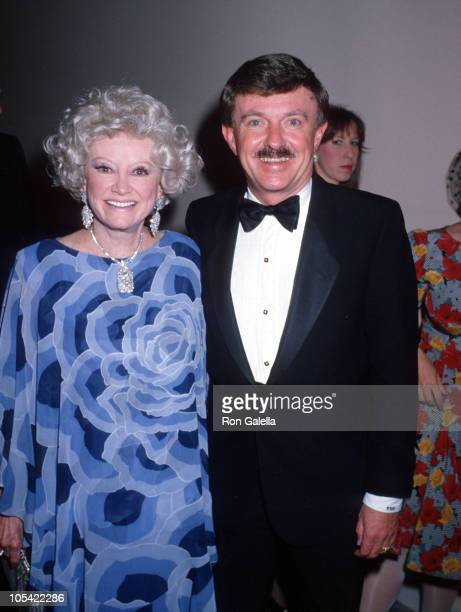 Phyllis Diller and Tom Hartzog during Army Ball June 3 1989 at Beverly Hills Hotel in Beverly Hills California United States