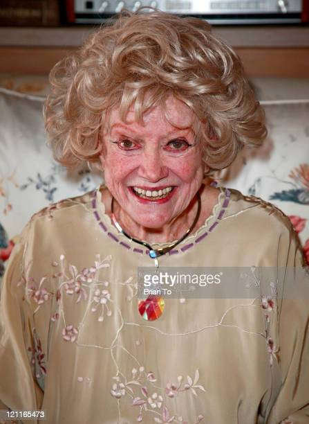 Phyllis Diller attends Zsa Zsa Gabor and Prince Frederic 25th wedding anniversary party on August 14 2011 in Los Angeles California