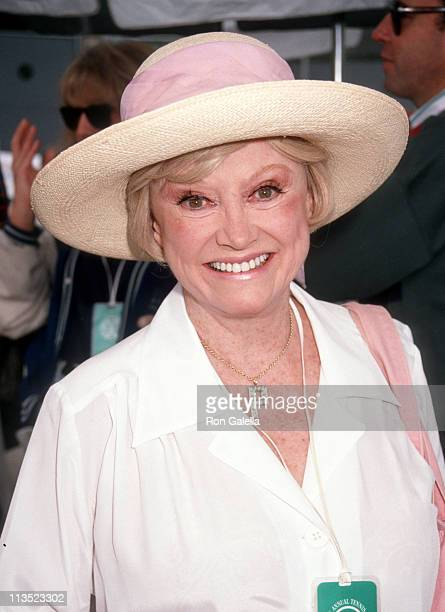 Phyllis Diller during 3rd Annual Nancy Reagan Tennis Tournament at Rivieria Country Club in Palisades California United States
