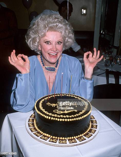 Phyllis Diller during Phylis Diller Celebrates Her 72nd Birthday at Wilson Resturant in New York City New York United States