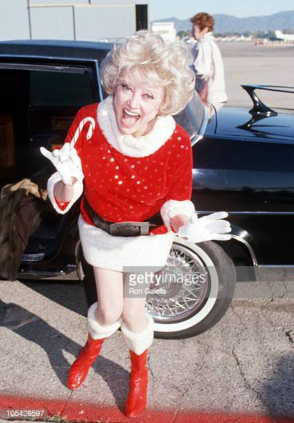 Phyllis Diller during Phyllis Diller at the Taping of Bob Hope's 1987 USO Christmas Special at Van Nuys California United States