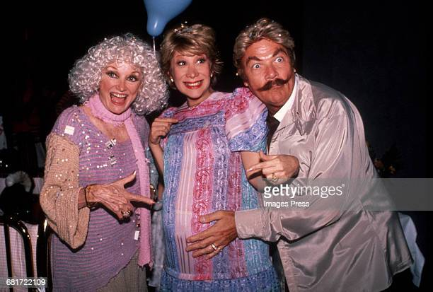 Phyllis Diller Marilyn Michaels and Rip Taylor circa 1983 in New York City