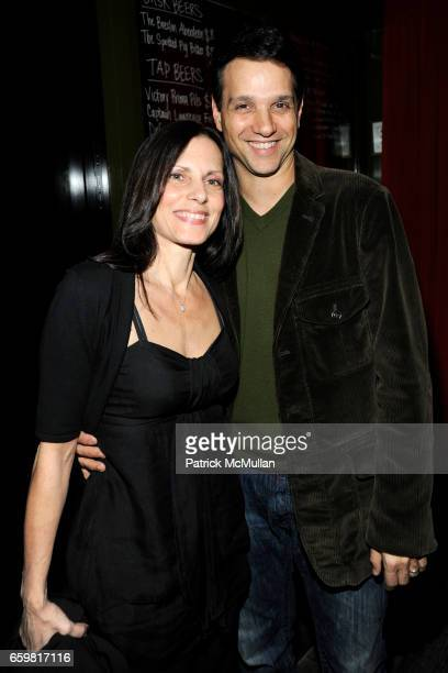 Phyllis Fierro and Ralph Macchio attend THE CINEMA SOCIETY A DIAMOND IS FOREVER host the after party for THE PRIVATE LIVES OF PIPPA LEE at Ace Hotel...