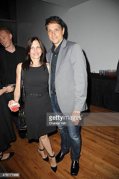 Phyllis Fierro Macchio and Ralph Macchio attend Lost Cat Corona wrap party at Highlight Studios on June 6 2015 in New York City