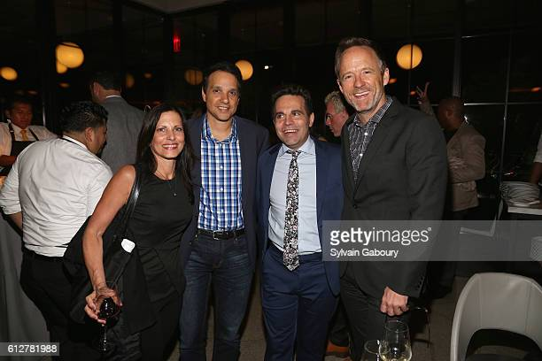 Phyllis Fierro Ralph Maccio Mario Cantone and John Benjamin Hickey attend HBO Presents the New York Red Carpet Premiere of Divorce After Party at La...