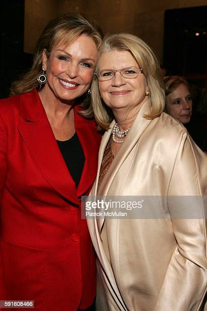 Phyllis George and Geraldine Laybourne attend She Made It The Museum of Television and Radio Celebrates the Writers Directors Producers Journalists...