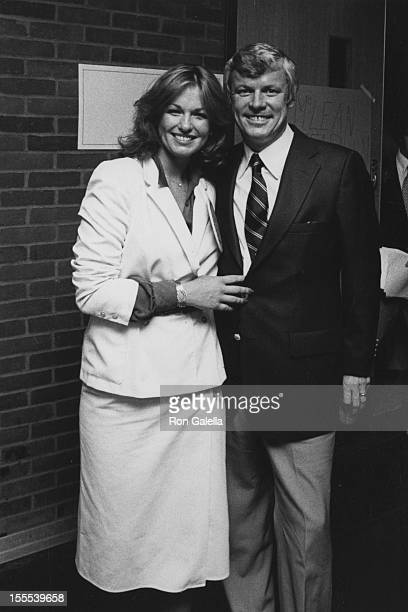 Phyllis George and Governor John Brown attend The International Summer Special Olympics Reception Party on August 9 1979 at State University of New...