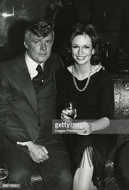 Phyllis George and John Y Brown Jr Engagement circa 1979 in New York City
