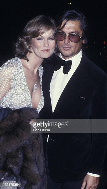 Phyllis George and producer Robert Evans attend the opening of The Act on October 29 1977 at the Majestic Theater in New York City