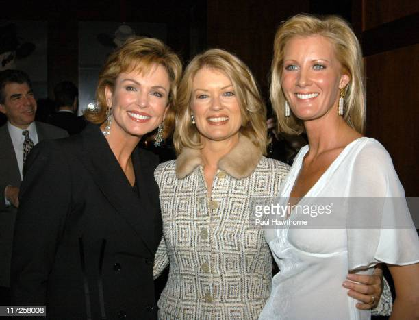 Phyllis George Mary Hart and Sandra Lee during Launch of Sandra Lee's New SemiHomemade Holidays Magazine and Food Network Show in Conjunction with...