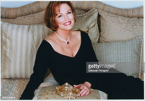 Phyllis George Posing with Her Crown