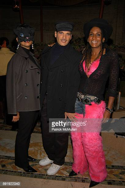 Phyllis Hollis Phillip Bloch and Renee Cox attend FENDI 80th ANNIVERSARY All Hallow's Eve Party hosted by KARL LAGERFELD at 25 Broadway on October 29...