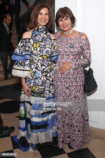 Phyllis LaRiccia and Renee Price attend Wiener Werkstatte 19031932 The Luxury of Beauty opening reception at Neue Galerie on October 25 2017 in New...