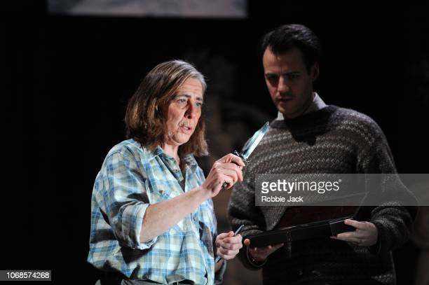 Phyllis Logan as Patricia Highsmith and Calum Finlay as Edward Ridgeway in Joanna MurraySmith's Switzerland directed by Lucy Bailey at The...