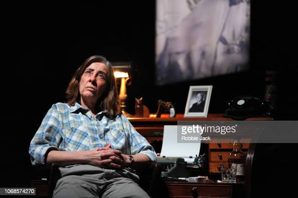 Phyllis Logan as Patricia Highsmith in Joanna MurraySmith's Switzerland directed by Lucy Bailey at The Ambassadors Theatre on November 16 2018 in...