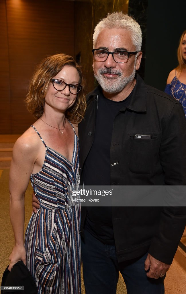 Phyllis Lyons (L) and actor Adam Arkin attend the after party for the Los Angeles premiere of 'Lucky' at Linwood Dunn Theater on September 26, 2017 in Los Angeles, California.