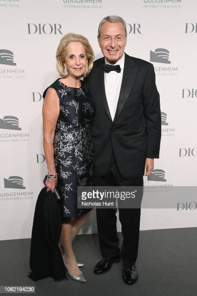 Phyllis Mack and Bill Mack attend the Guggenheim International Gala Dinner made possible by Dior at Solomon R Guggenheim Museum on November 15 2018...
