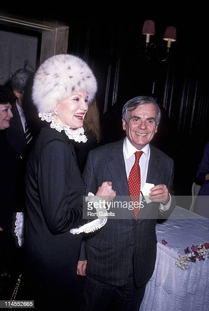 Phyllis McGuire and Dominick Dunne during Caberet Performance Party February 22 1990February 22 1990 at Plaza Hotel in New York City New York United...