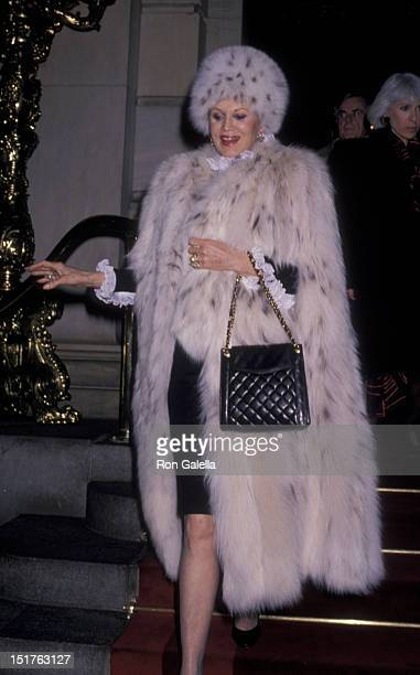 Phyllis McGuire attends Pal Balfour Opening on February 22 1990 at the Plaza Hotel in New York City