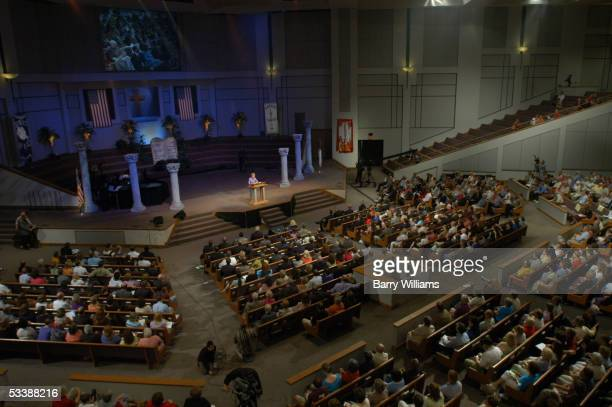 Phyllis Schlafly Founder and President of the Eagle Forum speaks at Justice Sunday II at Two Rivers Baptist Church August 14 2005 in Nashville...