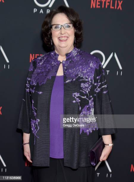"""Phyllis Smith arrives at Netflix's """"The OA Part II"""" Premiere at LACMA on March 19, 2019 in Los Angeles, California."""