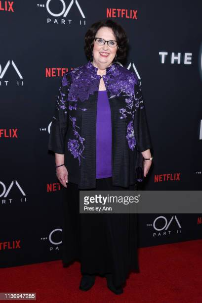 """Phyllis Smith attends Netflix's """"The OA Part II"""" Premiere Photo Call at LACMA on March 19, 2019 in Los Angeles, California."""