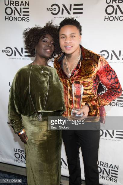 Phyllis Yvonne Stickney and Rotimi attend 2018 Urban One Honors at The Anthem on December 9 2018 in Washington DC