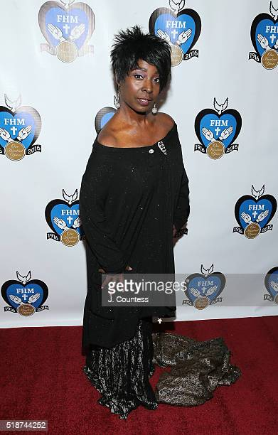 Phyllis Yvonne Stickney poses for a photo at the 2016 Franciscan Handmaids Of The Most Pure Heart of Mary Centennial Gala at The New York Academy Of...