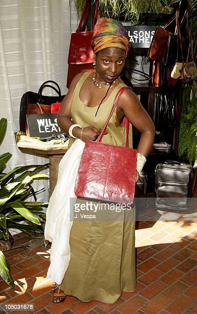 Phyllis Yvonne Stickney with a Wilson Leather bag