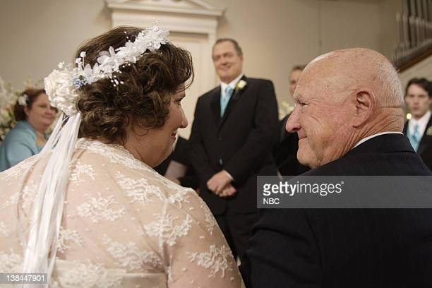 "Phyllis's Wedding"" Episode 16 -- Airdate 2/8/07 -- Pictured: Phyllis Smith as Phyllis Lapin, Bobby Ray Shafer as Bob Vance, Hansford Rowe as Elbert..."