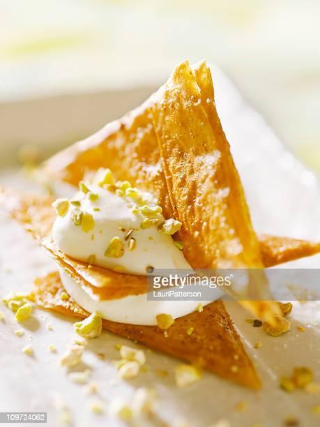 Phyllo Crisps with Lemon Mousse