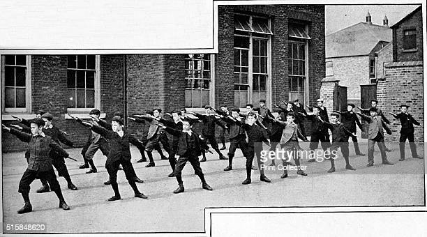 Physical drill at a London school circa 1900 From Living London Vol 1 edited by George R Sims [Cassell and Company Limited London Paris New York...