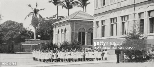Physical education at an allgirls elementary school Brazil from L'Illustrazione Italiana Year XXXVIII No 34 August 20 1911