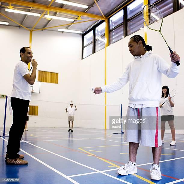 teenage Studenten: badminton-Klasse
