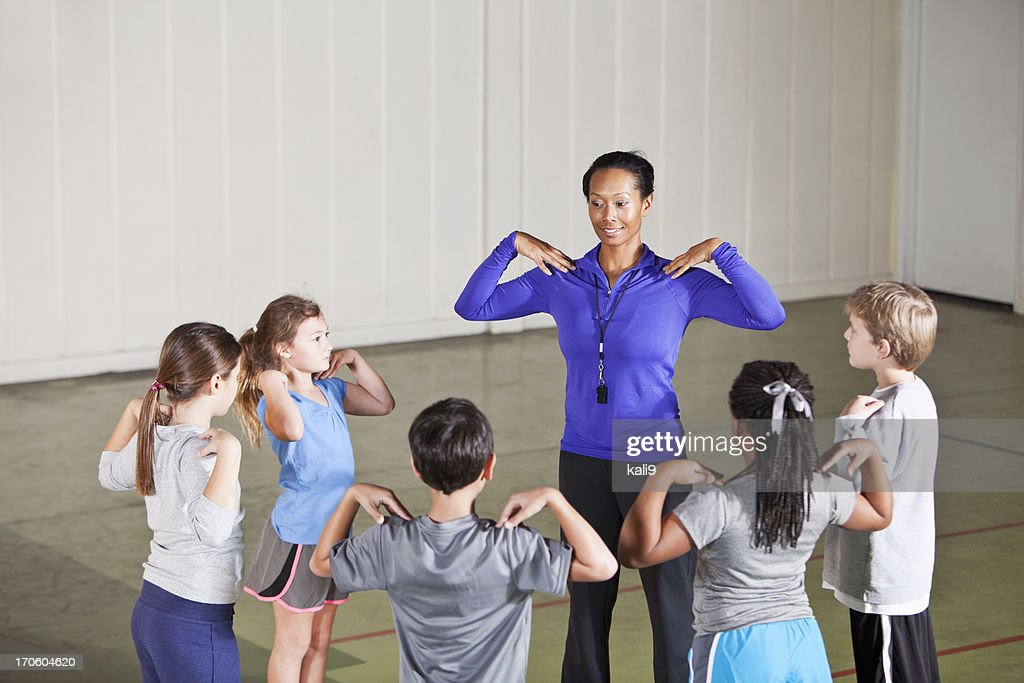 Physical education class : Stock Photo