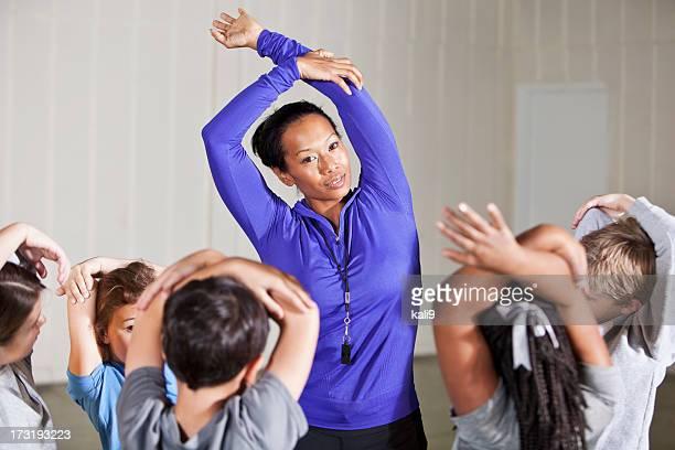 aula de educação física - physical education - fotografias e filmes do acervo