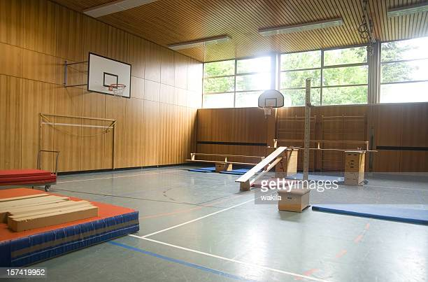 physical education gym hall - physical education stock photos and pictures