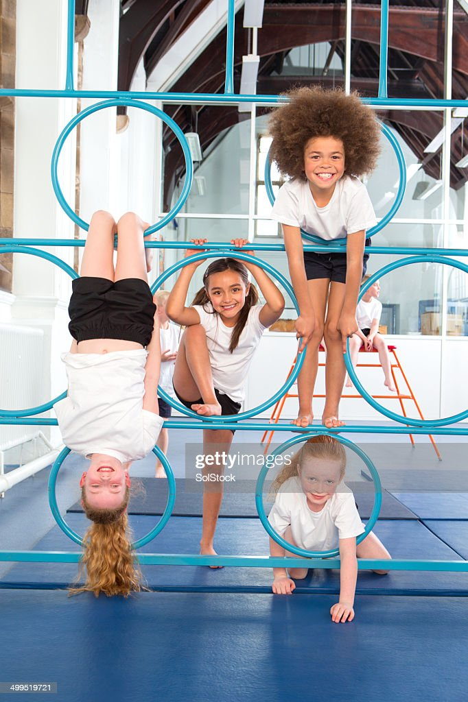 Physical Education In School : Stock Photo