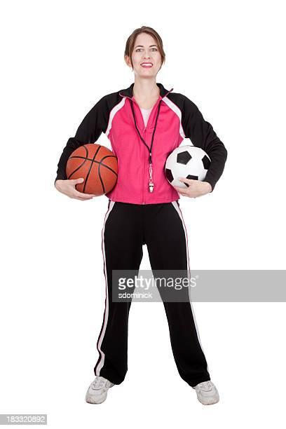 physical education teacher - pe teacher stock photos and pictures