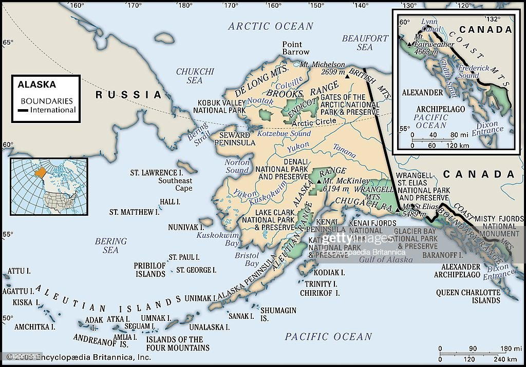 Physical Map Of Alaska, Physical Map Of The State Of Alaska, With An ...