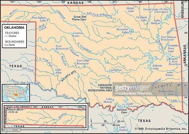 Mountains In Oklahoma Map.Ouachita Mountains Stock Photos And Pictures