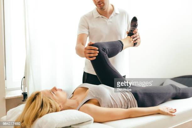 physical rehab - massage stock photos and pictures