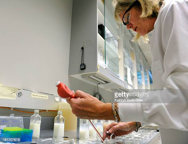 Physical Scientist Dee Jae Dutton performs tests on samples of pasteurized milk submitted every month from dairies across the state The Colorado...