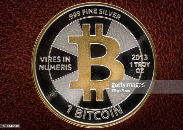 Physical silver Bitcoin coin