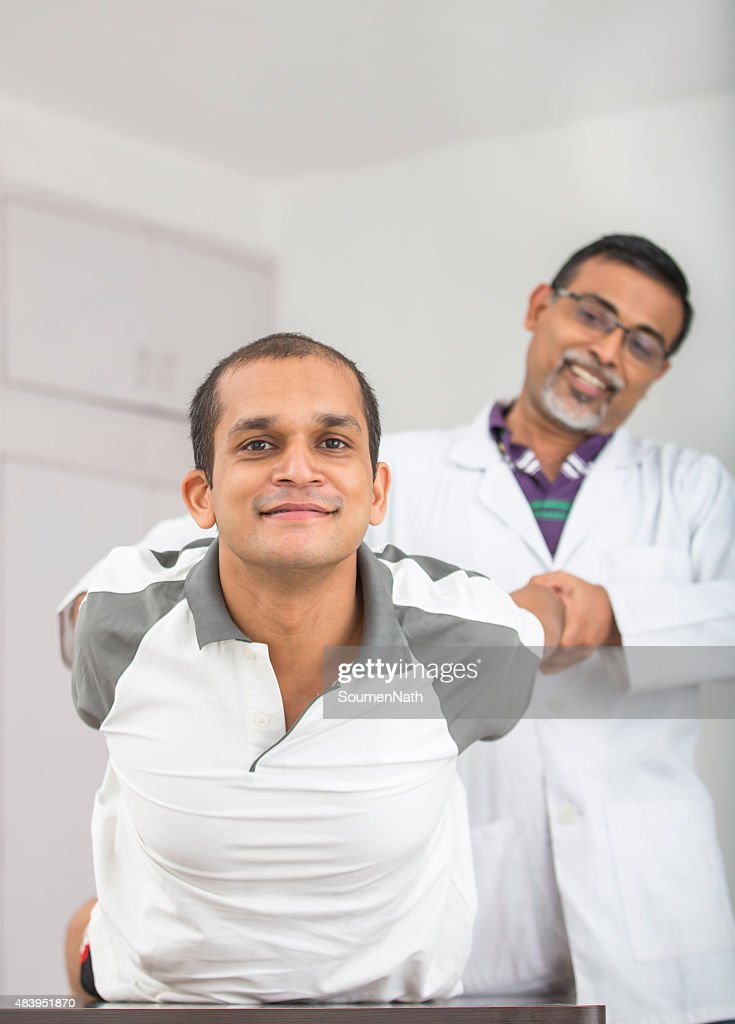 Physical Therapist Series: Hand and shoulders : Stock Photo