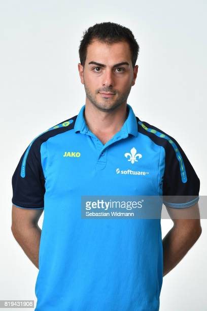Physical therapist Sofronios Alexiou of SV Darmstadt 98 poses during the team presentation at MerckStadion am Boellenfalltor on July 20 2017 in...