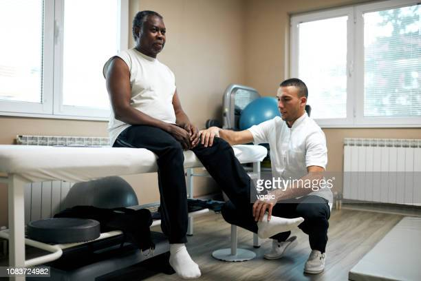 physical therapy - osteoarthritis stock photos and pictures